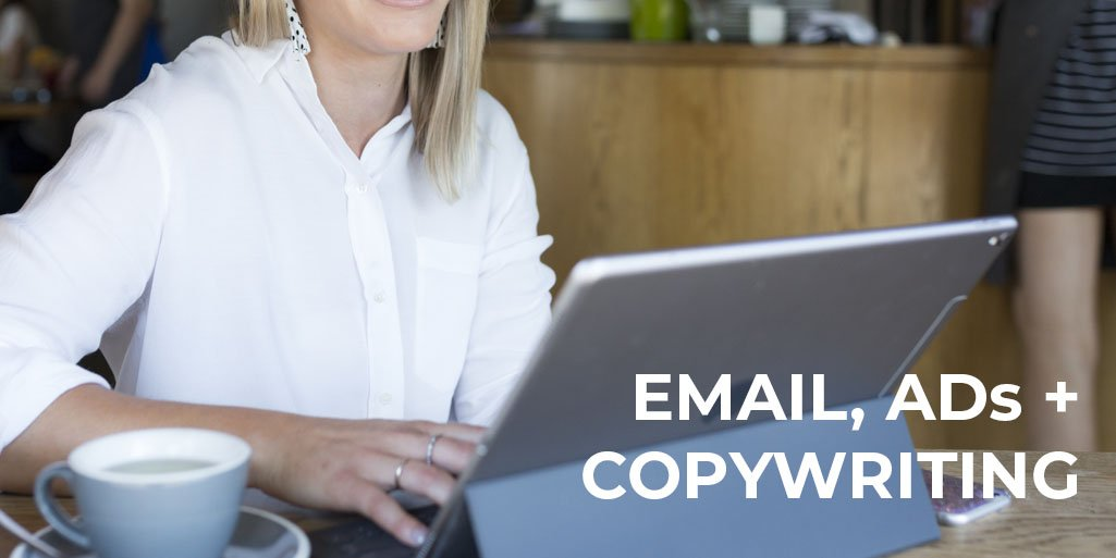 email marketing, facebook advertising and copywriting