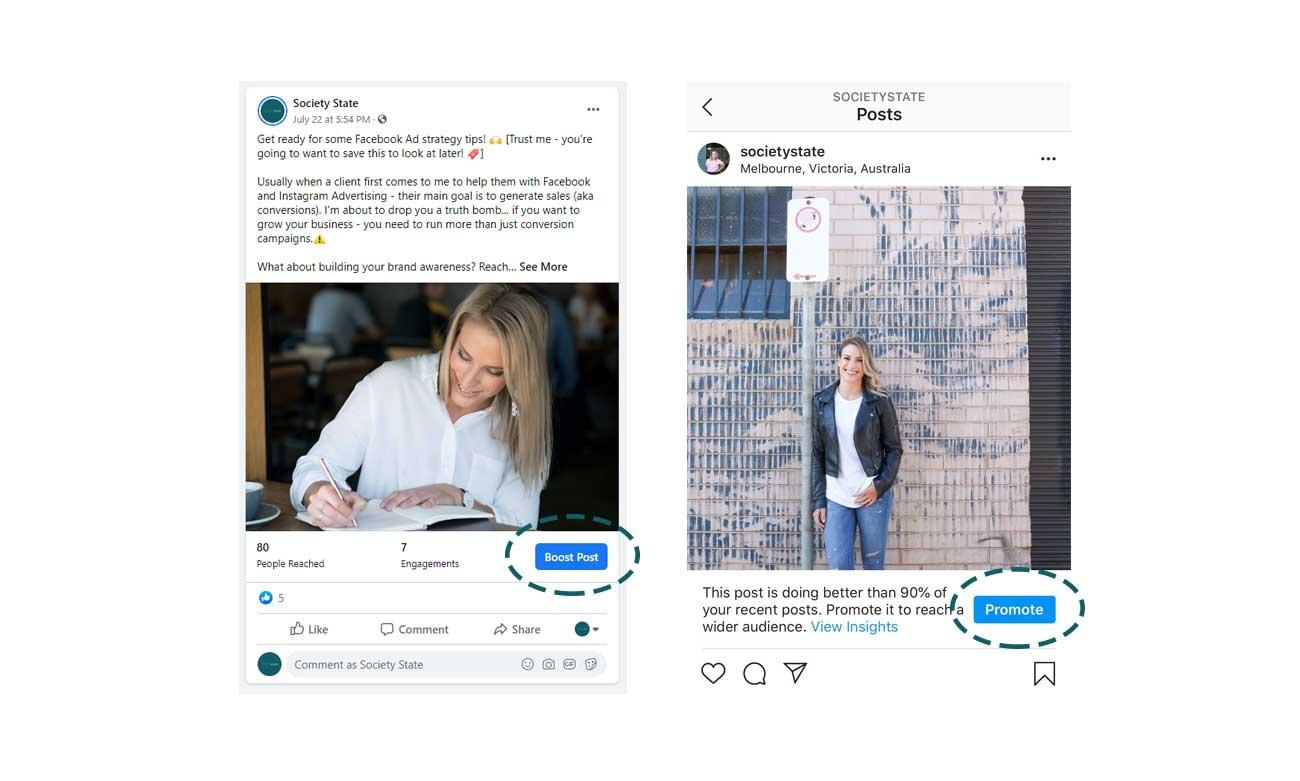stop boosting facebook post